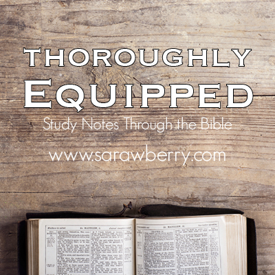 Thoroughly Equipped:  Bible Reading Schedule for November